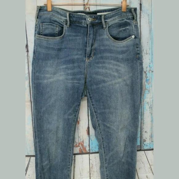 Pilcro and the Letterpress Denim - Women's 31 Tall High Rise Skinny Cuffed Jeans